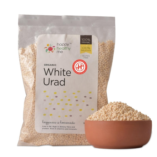 Organic White Urad - 500gm