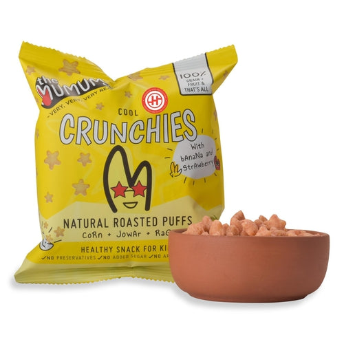Banana Strawberry Crunchies, Pack of 4 (12 Months+)