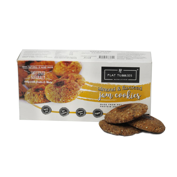 Flat Tummies Flaxseed Jam Cookies, Pack of 2 - 270 gm