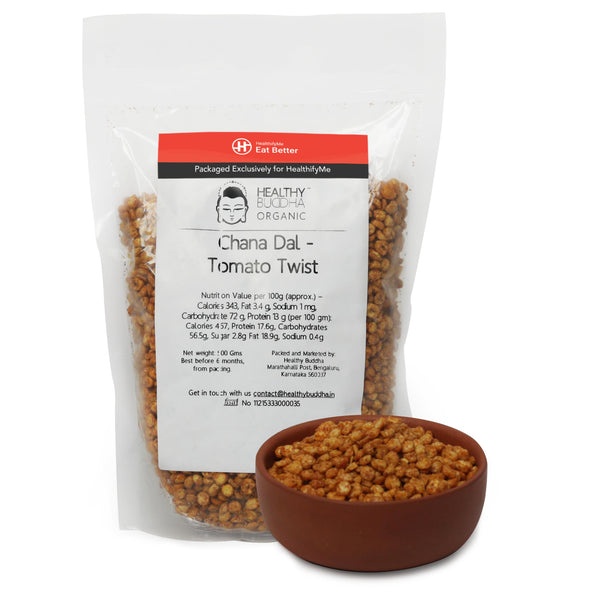 Roasted Channa Dal - Tomato Twist, Pack of 2 ( 150gm each )