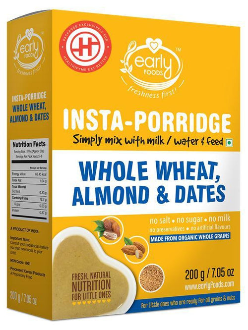 Early Foods - Instant Wheat, Almond & Date Porridge Mix (8 Months+)