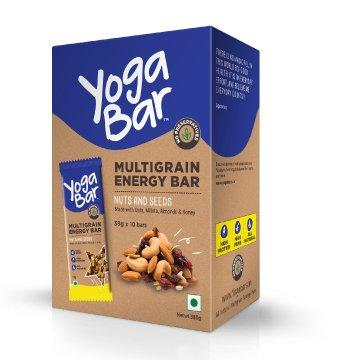 Yogabar Multigrain Energy Bars (Nuts and Seeds) Pack of 10(38gm each)