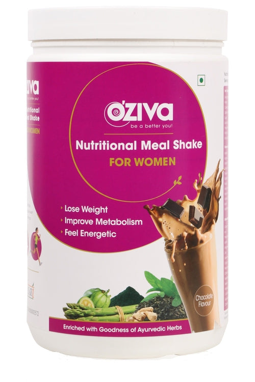 OZiva Nutritional Meal Shake (Meal Replacement) Chocolate for Women