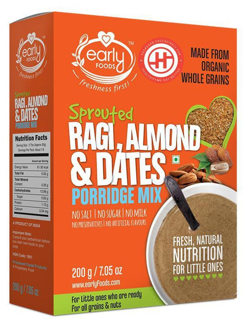 Early Foods - Organic Sprouted Ragi, Almond & Date Porridge Mix (8 Months+)