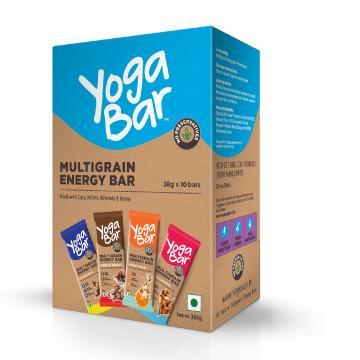 Assorted Yoga Bars, Pack of 10 ( 38gm each ) - 380 gm