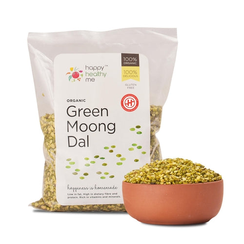 Organic Green Moong Dal - 500gm