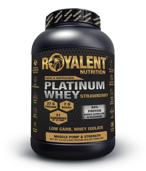 Platinum Whey-Strawberry, 1kg + FREE SHAKER