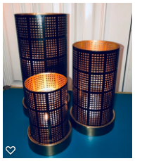 3 piece candle mesh screen set