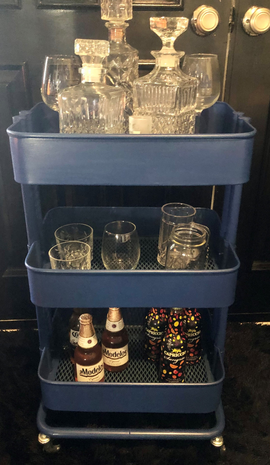 Bar Cart Custom Royal Blue