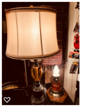 Load image into Gallery viewer, Tiger Eye Glass Lamp