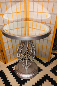 Silver Mirror Accent Table