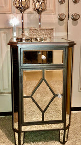Mirror Nightstand Cabinet