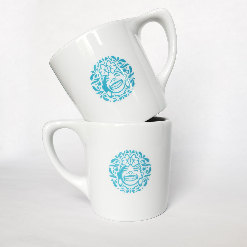 High Grade Ceramic Ergonomic Handle Logo Mug