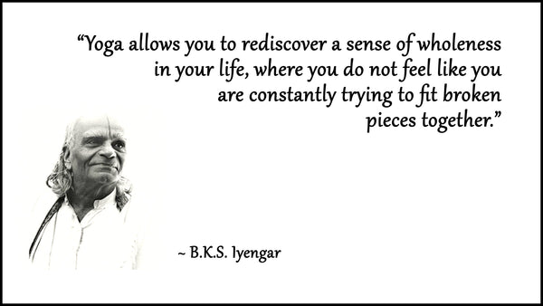B.K.S. Iyengar, the man who played a key role in introducing yoga to the West
