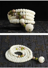 Load image into Gallery viewer, Natural White Bodhi Root Beads Bracelet-MALA BEADS-Green Hippie Yoga