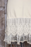 Cream Tiered Lace Dress Extender  **NEW**