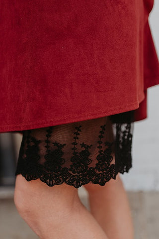 Black Lace Dress Extender