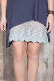 Cool Grey Lace Dress Extender