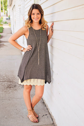 Cream Lace Dress Extender