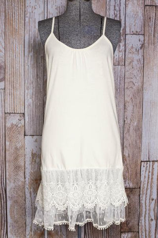 Cream Tiered Lace Dress Extender  - PRE ORDER!!