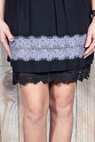 Plus Size Black Lace Dress Extender
