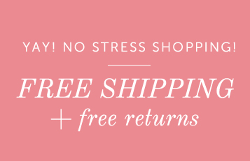 free shipping, free returns