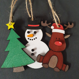 Personalised Painted Christmas Decorations
