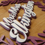 WEDDING DAY WREATH CAKE TOPPER