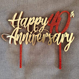 Happy Anniversary Cake Topper
