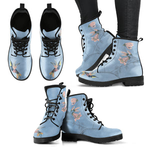 warm blue hummingbird women's boots for winter