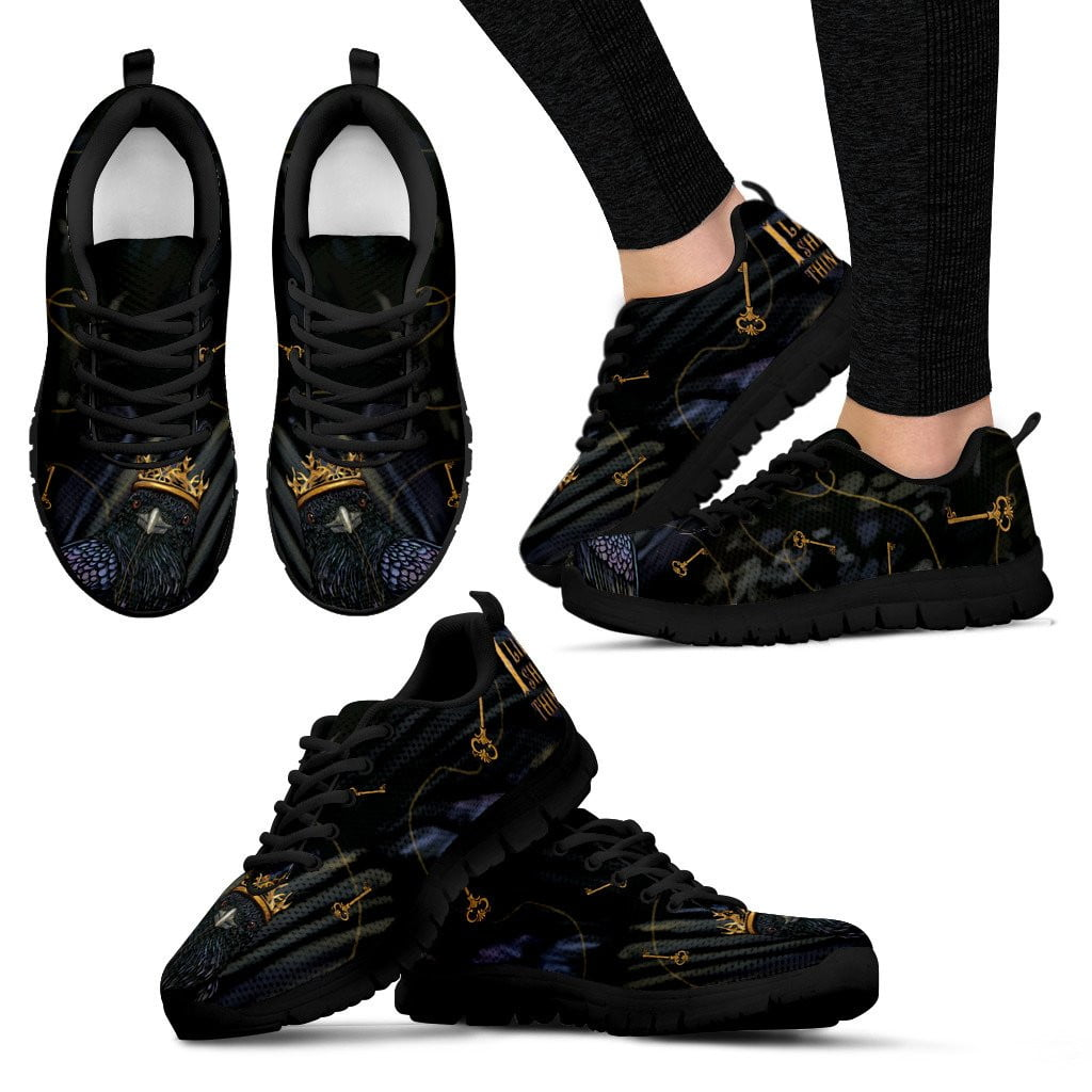 raven woman black sneakers