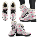 women's pink leather flamingo boots sale