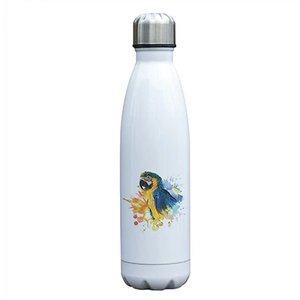 """ Blue and Gold Macaw in the Wild "" Parrot Water Bottle"