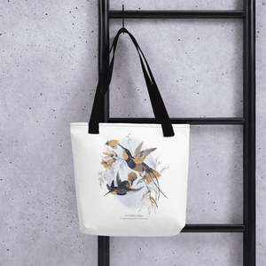 hummingbirds design tote bag for women