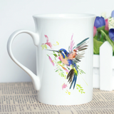 """Free Spirit"" Set of Hummingbird Stylish Coffee Mugs"