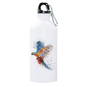 """Soaring Macaw"" Parrot Water Bottle"