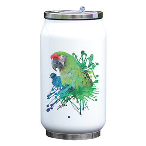 """ Go Green "" Rose-ringed Parakeet Parrot Water Bottle"