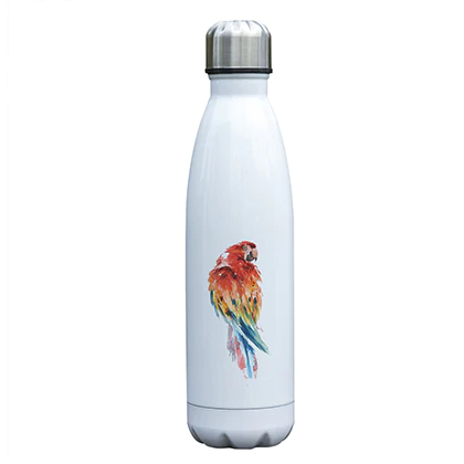"""Scarlet Red Look"" Macaw Parrot Water Bottle"