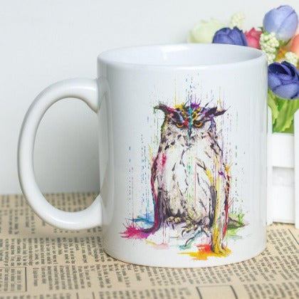 """Owl You Need is Coffee"" Set of Owl Classic Coffee Mugs"