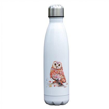 """Owl You Need is Water"" Watercolor Owl Water Bottle"