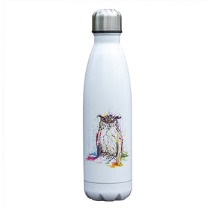 """Owl See You"" Watercolor Owl Water Bottle"
