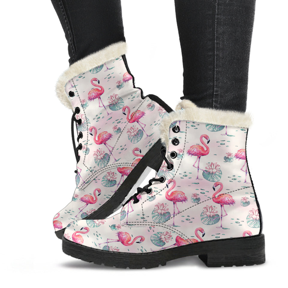 flamingo in boots