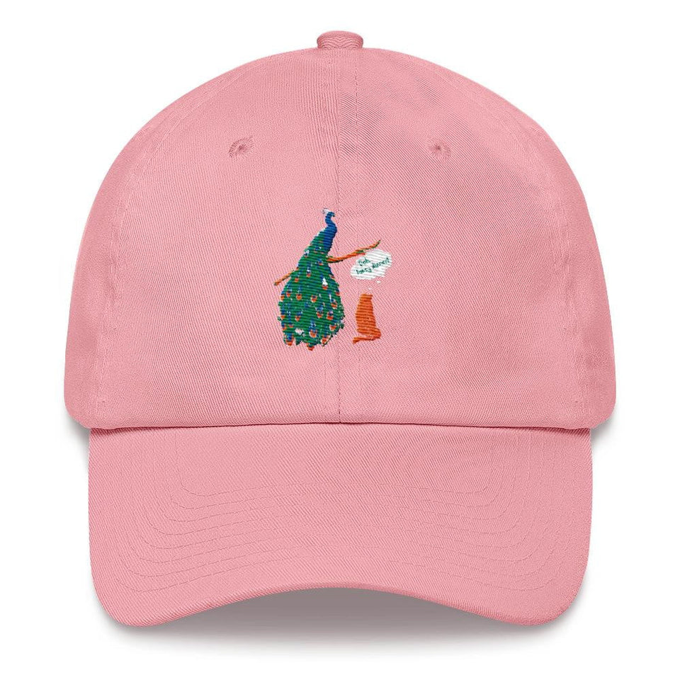 women's running hat peacock