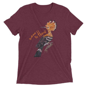 maroon hoopoe t shirt women's