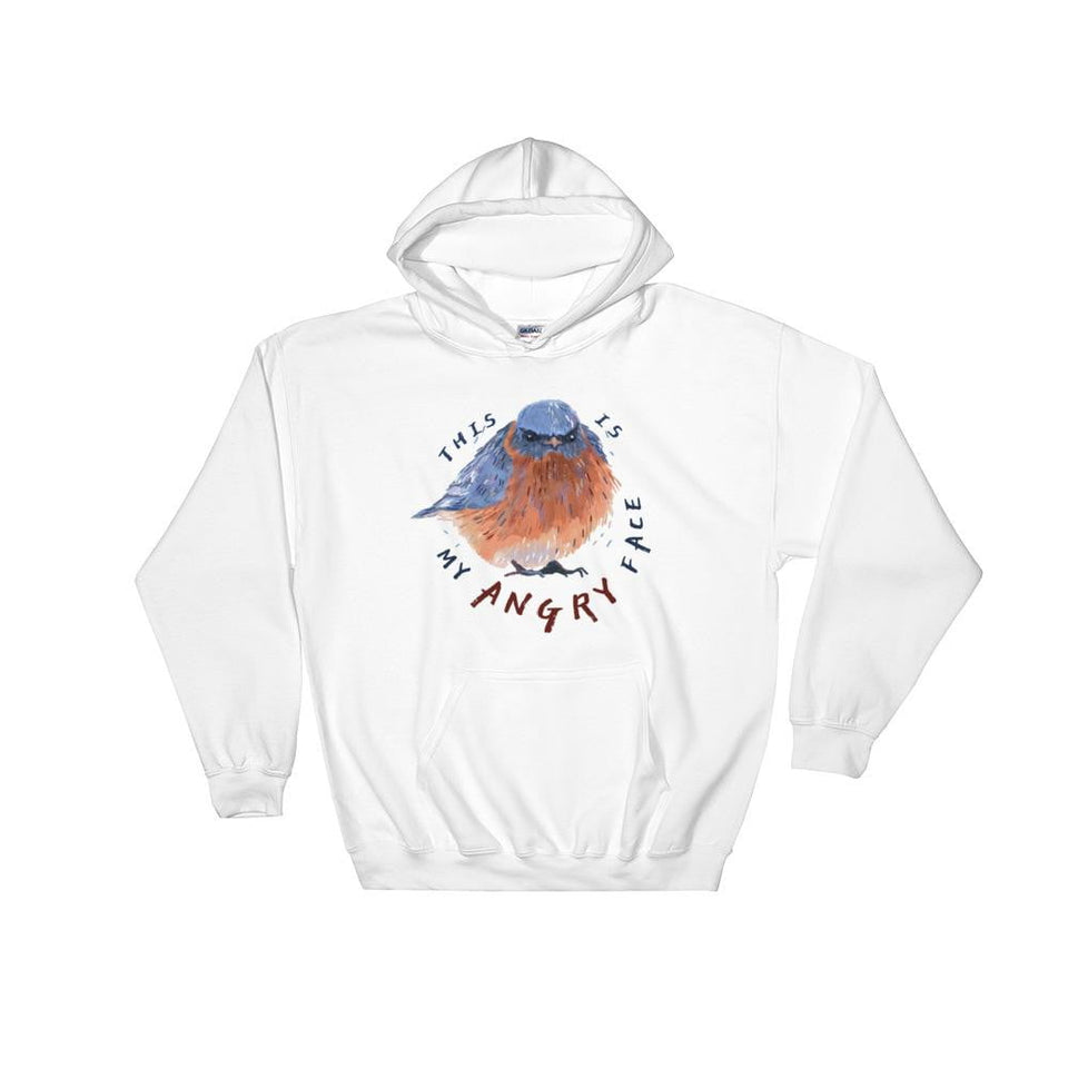 """This Is My Angry Face"" Bluebird Men's Hoodie"
