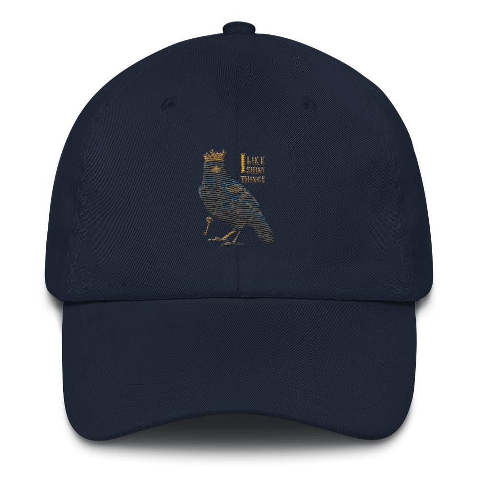 crow navy dad hat