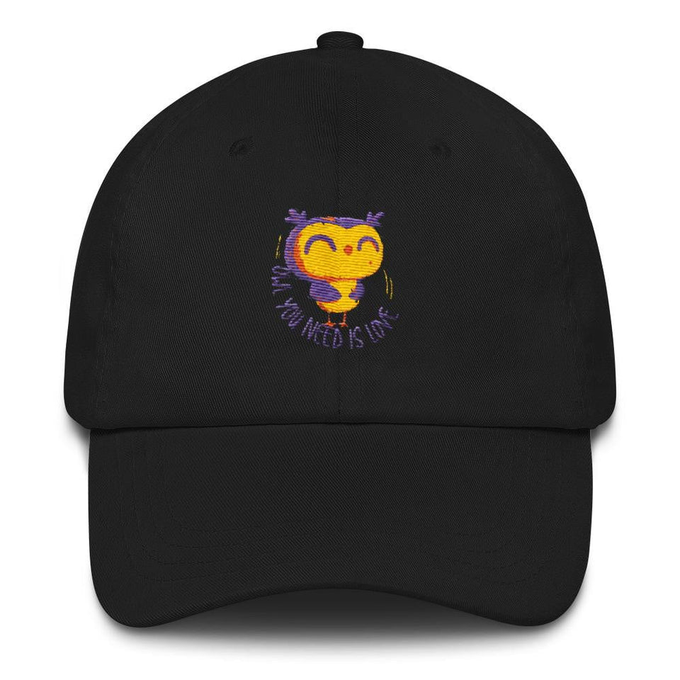 black owl men's hiking hat