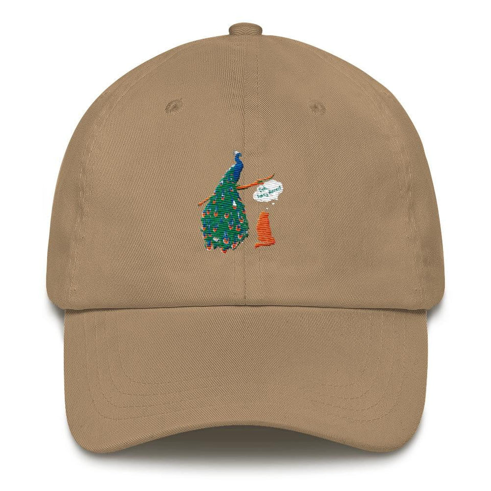 dad hat design peacock