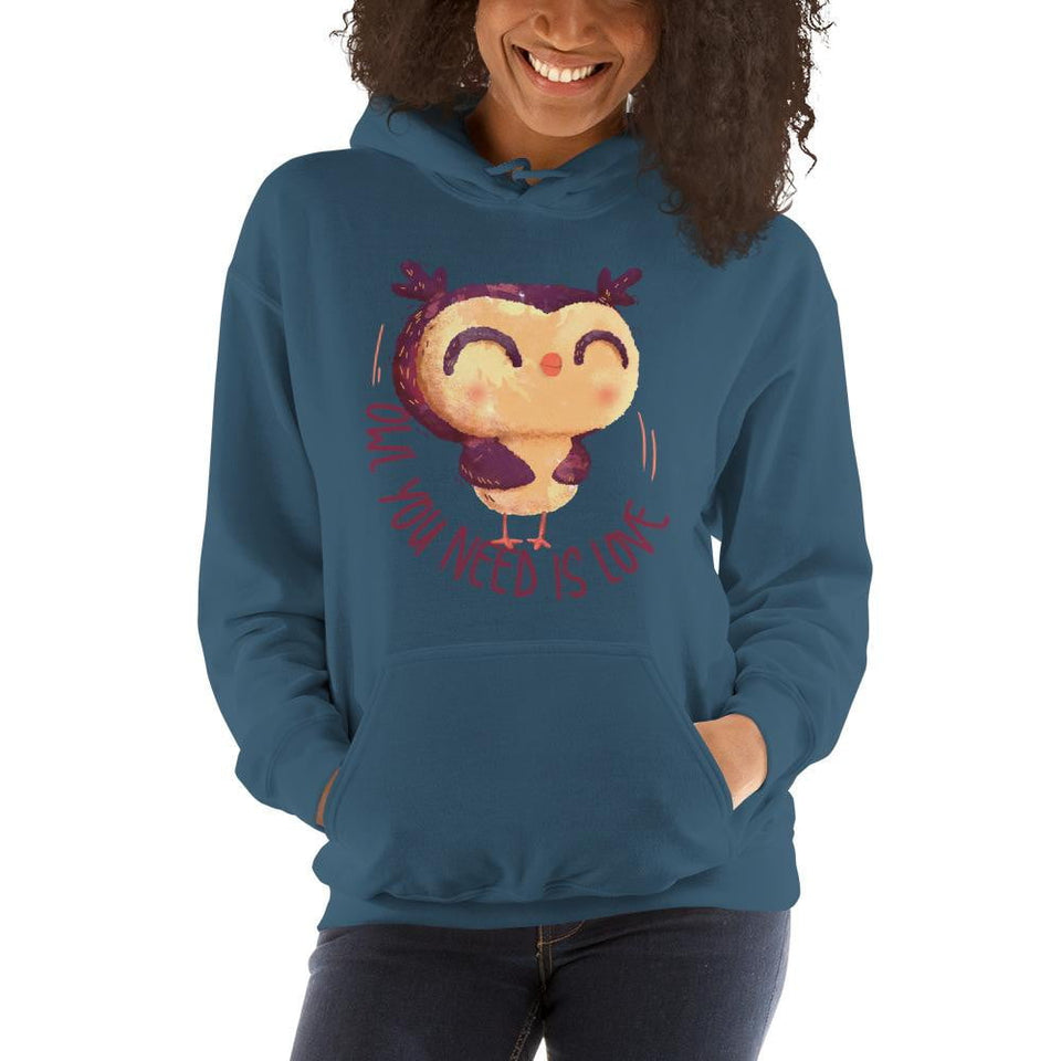 """Owl You Need Is Love"" Women's Hoodie"