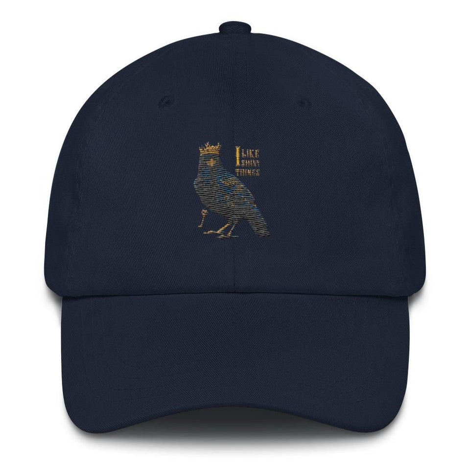 navy crow dad hat for sale